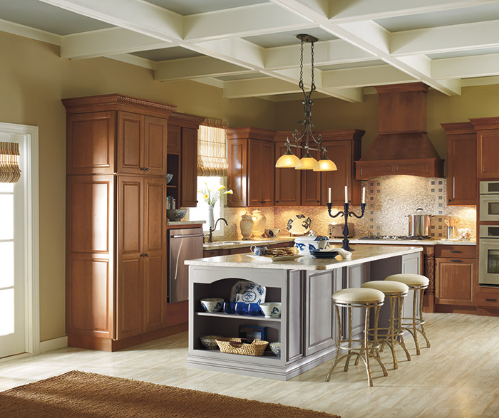 cherry kitchen island slip resistant shoes cabinets with painted kemper rennie a maple