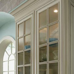 Glass Inserts For Kitchen Cabinets Curtains The Traditional Mullion Cabinet Doors - Kemper Cabinetry