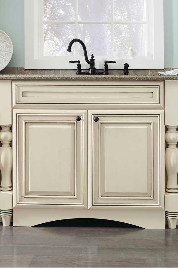 kitchen cabinet door swinging doors residential arch valance toekick - kemper cabinetry