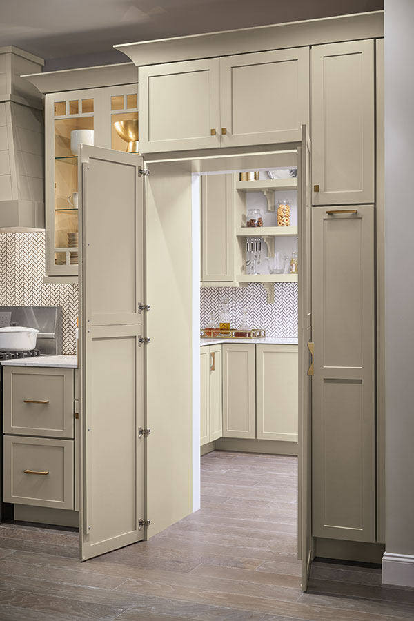 Pantry Walk Through Cabinet  Kemper Cabinetry