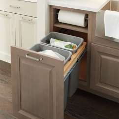 Small Recycling Bins For Kitchen Tuscan Design Photos Base Paper Towel Cabinet - Kemper Cabinetry