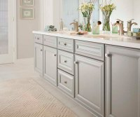 Gray Bathroom Cabinets - Kemper Cabinetry