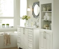 White Bathroom Cabinets - Kemper Cabinetry