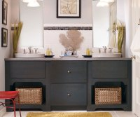 Dark Gray Bathroom Vanity - Kemper Cabinetry