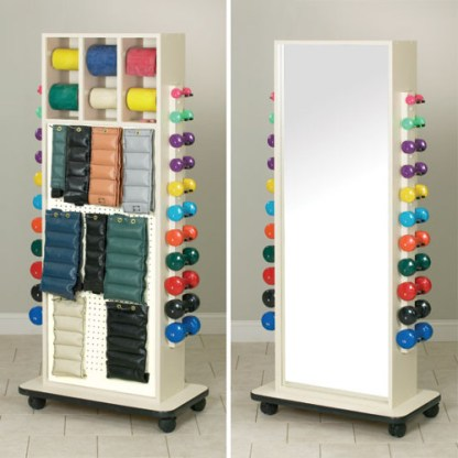 Physical Therapy Mirror Rack