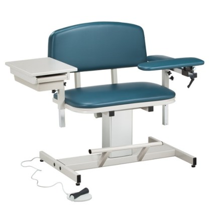 Power Series Extra Wide Blood Draw Chair with Flip Arm & Drawer