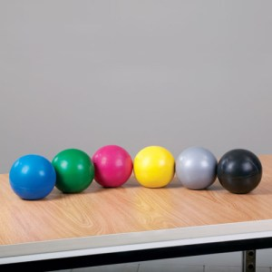 Soft Grip Weighted Exercise Balls - Set of 6