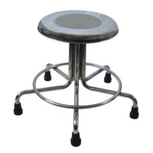 """MRI Non-Magnetic Adjustable Height Doctor Stool, 21"""" to 27"""""""