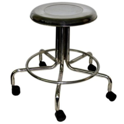 """MRI Non-Magnetic Adj. Height Doctor Stool, 21"""" to 27"""" w/ Casters"""