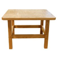 Non-Magnetic MRI Pediatric Solid Oak Table