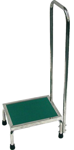 "MRI Non-Magnetic Step Stool with 41"" Handrail"