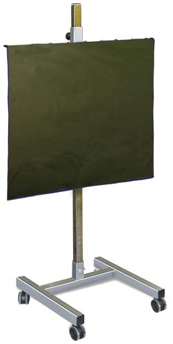 "Max Shield Solid Panel with H-Base 36"" x 36"""