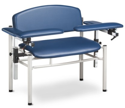 SC Series, Extra-Wide, Padded, Blood Drawing Chair w/Padded Arms