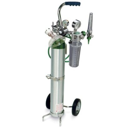 MRI Non-Magnetic Du-O-Vac Plus Code Cart Suction System