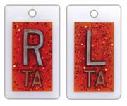 Personal Touch X-ray Film Markers - Glitter Burnt Sienna