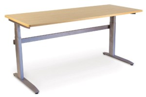 Linear Desk - Straight Front - Undivided Surface