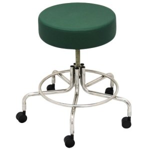 "Non-Magnetic MRI Adjustable Stool, 16"" to 22"" - Green"