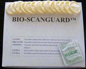 Bio-Scanguard Latex Ultrasound Probe Covers - 144 Covers