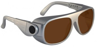 IPL Brown Contrast Enhancement Laser Safety Glasses Model 66 - Silver
