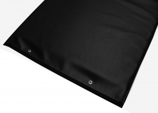 Table Pad with Reinforced Vinyl - Black