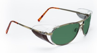 Industrial Metal Glassworking Safety Glasses - BoroView 3.0 - Gold