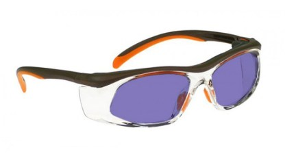 Model 206 Glassworking Safety Glasses - Polycarbonate Sodium Flare - Orange and Brown with Clear Side Shields