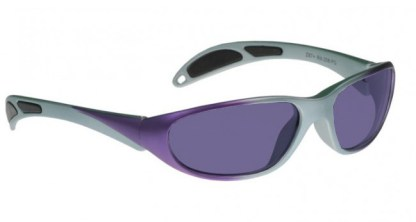 Model 208 Glassworking Safety Glasses - Polycarbonate Sodium Flare - Purple and Gray