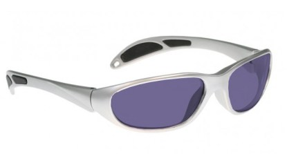 Model 208 Glassworking Safety Glasses - Polycarbonate Sodium Flare - Silver