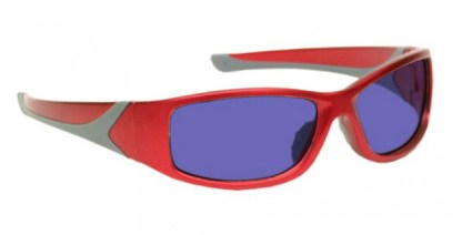 Model 808 Glassworking Safety Glasses - Polycarbonate Sodium Flare - Red