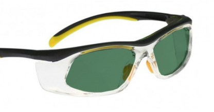 Model 206 Glassworking Safety Glasses - BoroView 3.0 - Yellow and Black with Clear Side Shields