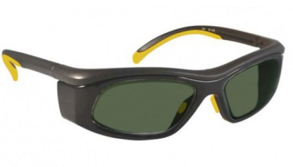 Model 206 Glassworking Safety Glasses -  BoroView 5.0 - Yellow and Black with Smoke Gray Side Shields