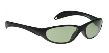 Model 208 Glassworking Safety Glasses - Light Green Filter - Black