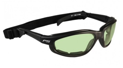 Model 901 Black Plastic Glassworking Safety Glasses - Light Green Filter
