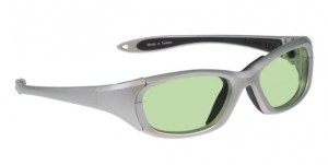 Model MX30 Glassworking Safety Glasses - Light Green Filter - Silver