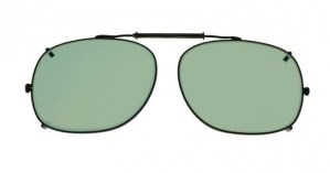Square Clip-On Glassworking Safety Glasses - Light Green Filter