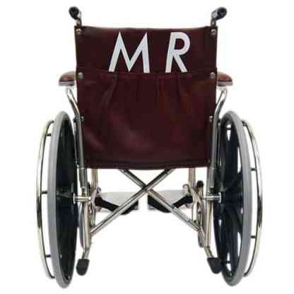 "20"" Wide MRI Non-Magnetic Transport Chair with Detachable Footrests - Back"