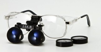 Radiation Protection Loupe, Ni-Alloy Frame - Silver