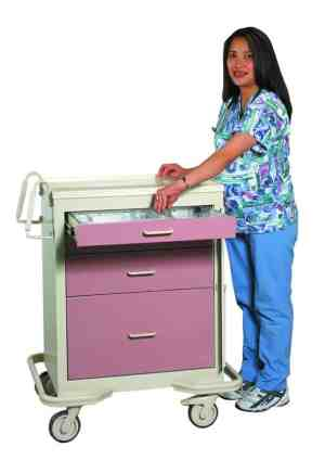Emergency Crash Cart - Standard 4 Drawer with Panel