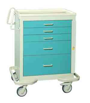 Emergency Crash Cart - Standard 5 Drawer
