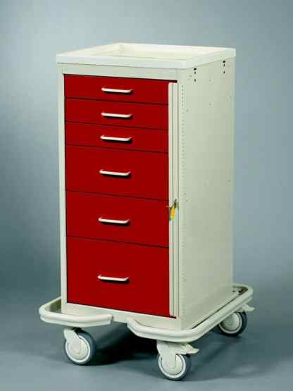 Emergency Crash Cart - Mini 6 Drawer Tower