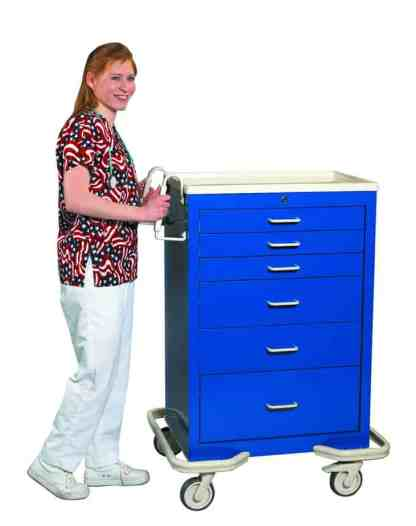 6 Drawer Anesthesia Cart with Key Lock