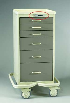 Anesthesia Carts (Mini Push Button Lock - 6 Drawer Tower) - MPT-630