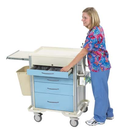 Select Series 6 Drawer Locking Anesthesia Cart - SAP-C Package
