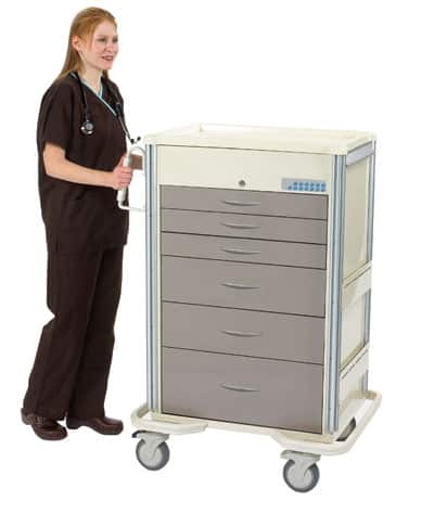 Select Series 6 Drawer Locking Anesthesia Cart - Electronic Lock