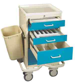 Anesthesia Carts (Mini Push Button Lock - 6 Drawer Tower) - TTV-PK