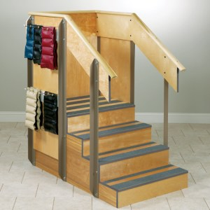 Physical Therapy Staircase Storage Island