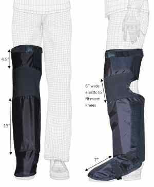 Techno-Aide Leg Guard - Long -  Radiation Protection for the Lower Leg