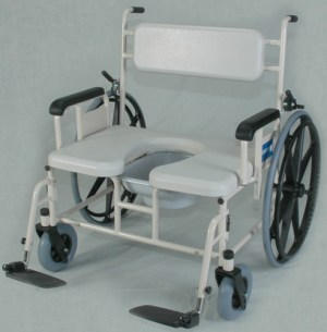 Wheeled Shower Commode Chair