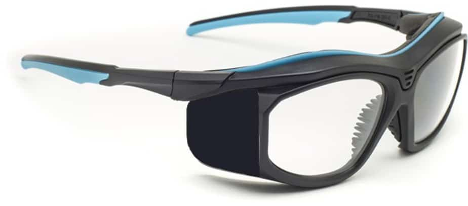 Model F10 Economy Prescription Radiation Glasses - Black / Blue