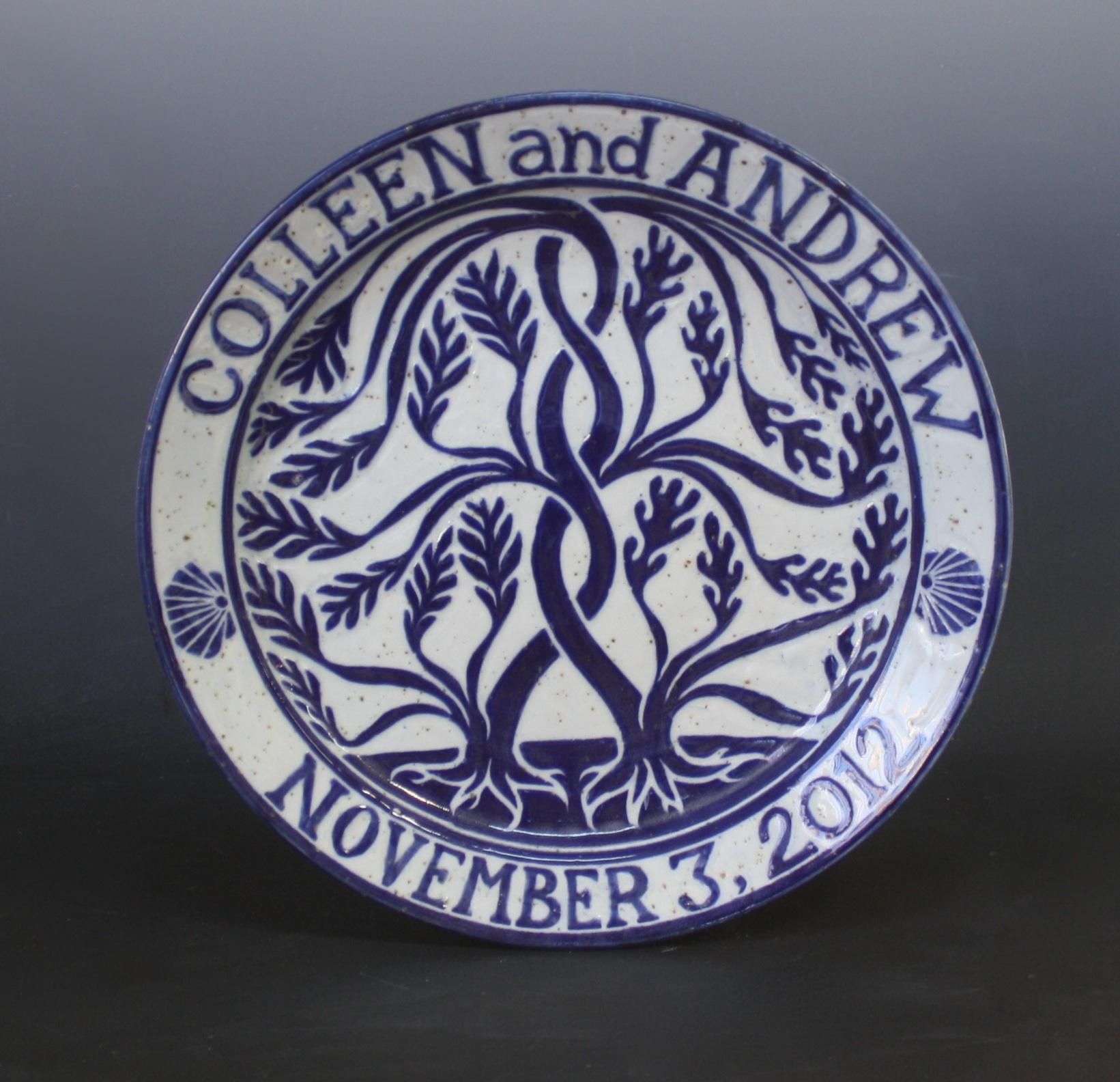 Intertwining Trees Wedding Plate & Wedding Plates u2013 Kemp Pottery